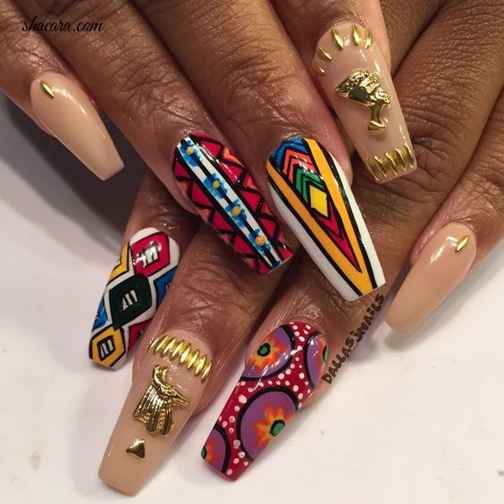 EMBRACE YOUR HERITAGE WITH THESE AFRICAN INSPIRED NAIL ART DESIGNS